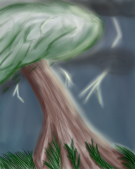 Tree In a Storm by Lhua101