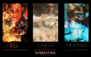 Supernatural-Hell-Earth-Heaven by LadyJenney