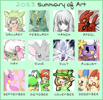 Hime--Nyan's Summary of Art 2013 by Hime--Nyan