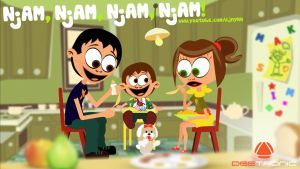 Njam Njam Njam Njam (Yum Yum Yum Yum) 2014 video by djnick2k