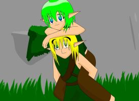 Saria and Link UO 4 Scene by ScootWHOOKOS