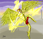 Aioros - playing with fire by Zaiburst