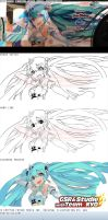How did I worked on Hatsune Miku Z4 GT300 2012? by shanaxtaiga