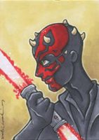 darth maul card by katiecandraw