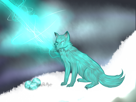 Hatched Lightning Wolf! by ShirahimeArt