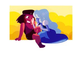 ruby and sapphire by kafel88