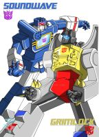 Grimlock + Soundwave by JP-V