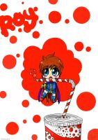 Red fizz chibi Roy by Paws-the-snowleopard