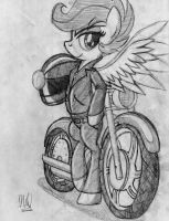 The Scooter Got an Upgrade by drawponies