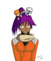 Yoruichi and chibis request by feerl