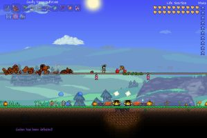Terraria 1.2 - I stopped the rock, now I have it. by RazorVolare
