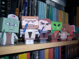 Cubeecraft - A bunch of jedi by Starfic