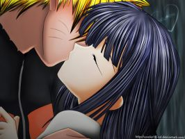 NaruHina Kiss Color by Sasuke18-XD