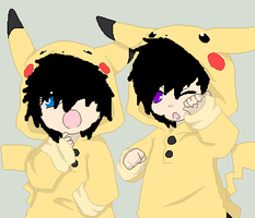 little emo pikachu by ChibiMonsterz