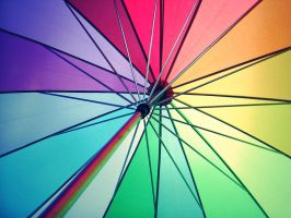 colorful umbrella by rainbow-world