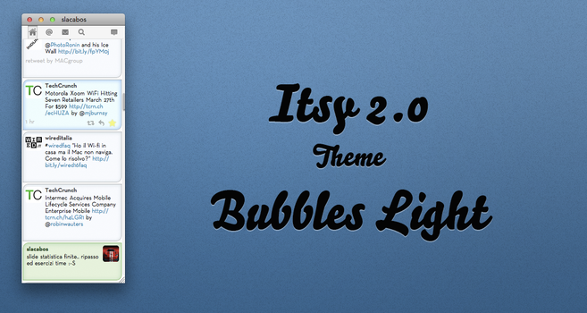 Itsy 2.0 theme - Bubbles Light by slacabos