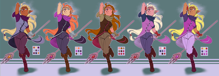 Zelda redesign colour test by BabaKinkin