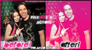 Pink pinks  action by RolandoEditions