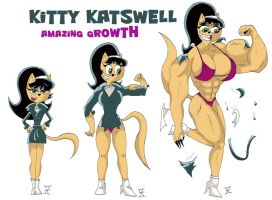 Kitty Katswell Muscle Growth Sequence by kimenguman