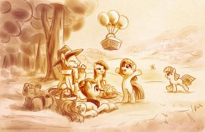 Pie Family Picnic by KP-ShadowSquirrel