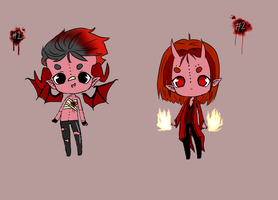 {CLOSED} Demon Twins Adoptables by modernvamps