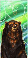 Spectacled Bear Watercolour by BumbleBeeFairy