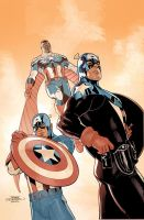 Captain America 75th Cover Pencils by TerryDodson