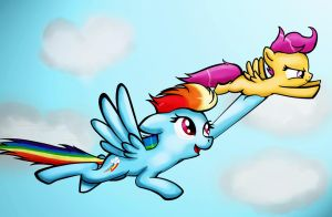 Flying High by scooterloo