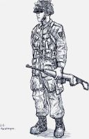 U.S. Paratrooper by chlora