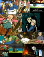 Howl's Moving Castle Collage by Kawaiilittlepuppy