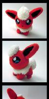 Flareon pokedoll by d215lab