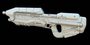 Halo 4 Assault Rifle by DANQUISH