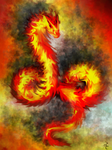 Flaming Serpent by cumalee