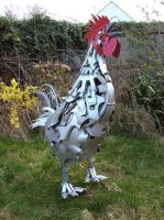 Rooster by HubcapCreatures