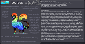 Leureep Species Reference Sheet by Nai-Alei