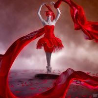 black-white and red by siseer