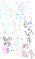 Transformers doodle session :3 by Jewel-Reaver