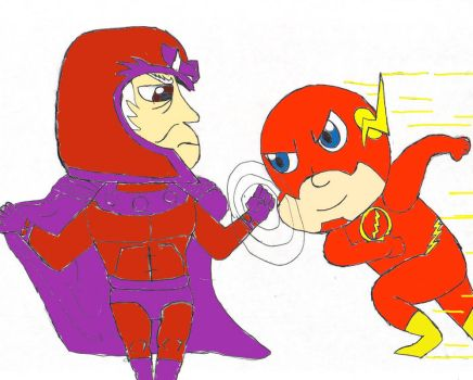 Magneto Vs The Flash by SpicyTaco1