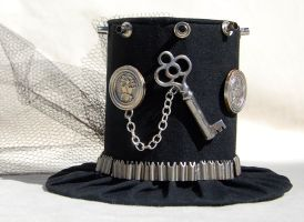 Tiny Top Hat: Punk Rocker 2.0 W/ Full Back Veil by TinyTopHats