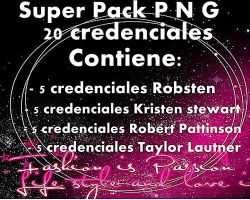 Super Pack  de 20 Credenciales by Carol05