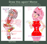 Amy Rose Before and After Meme by Fantasy-Fashionista
