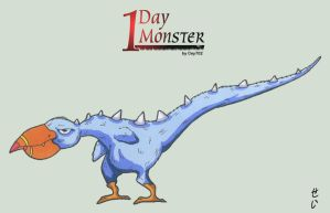 1day 1Monster - day10 - Autruse by Cey-J