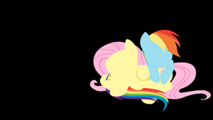 Flutterdash Minimal Wallpaper by Kitana-Coldfire