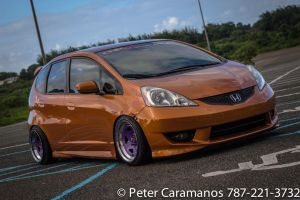 Slammed Honda Fit by Caramanos2000