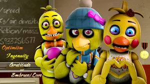 Unwithered, Original and Toy Chica by TalonDang