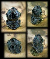 Creepy Antique Divers Helmet Necklace by NeverlandJewelry
