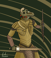 Tiberius, the argonian by Juliannb4