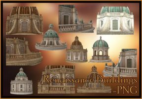 Renaissance Buildings PNG by KlaraKay
