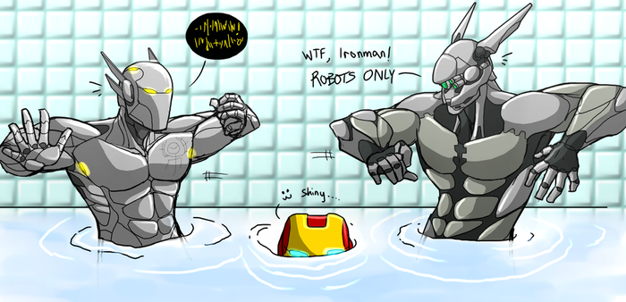 Mech-Men Pool Party! by RottenRibcage
