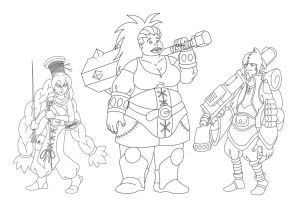 Brave Little Tailor Lineart by etc-2000
